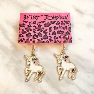 🎉 New Betsey Johnson White Unicorn Earrings